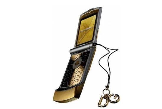 Motorola V3i Razer G&B Guld